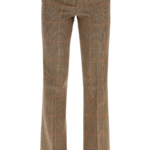 L'AUTRE CHOSE PRINCE OF WALES TROUSERS 38 Beige, Black, Brown Wool
