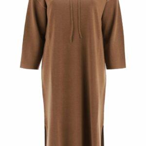 MAX MARA LERICI JERSEY DRESS WITH HOOD S Brown Wool