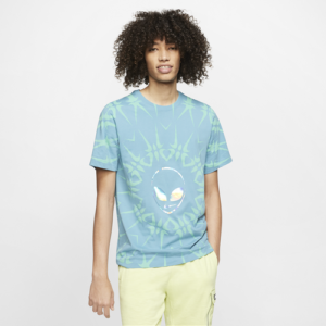 Nike Mens Nike Festival Print T-Shirt - Mens Blue/Green Size XXL