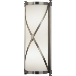 "Robert Abbey Chase Wall Chase 17"" Single Bath Bar Dark Antique Nickel Indoor Lighting Bathroom Fixtures Bath Bar"