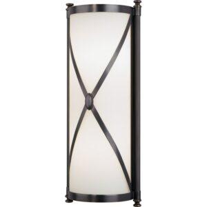 """Robert Abbey Chase Wall Chase 17"""" Single Bath Bar Deep Patina Bronze Indoor Lighting Bathroom Fixtures Bath Bar"""