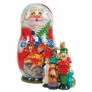 Russian Toy Bag Orn Doll Scenic Ornament Set