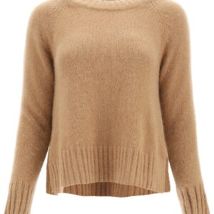 'S MAX MARA CAIO CASHMERE AND MOHAIR SWEATER S Beige, Brown Cashmere
