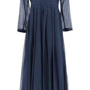 'S MAX MARA COROLLA VOILE DRESS 38 Blue Cotton, Silk
