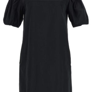 'S MAX MARA TAFFETA DRESS WITH JEWEL EMBROIDERY 40 Black