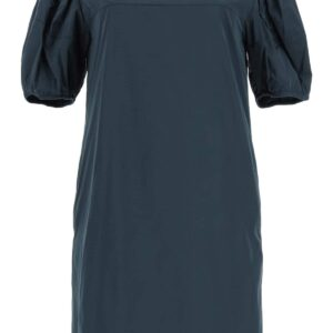 'S MAX MARA TAFFETA DRESS WITH JEWEL EMBROIDERY 40 Blue