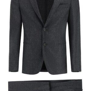 THE GIGI DEGA WOOL DRESS 50 Grey, Black Wool
