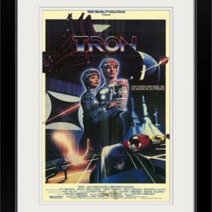 """Tron (1982)"" Black Framed Art Print, 20""x26""x1"""