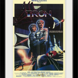 """Tron (1982)"" Black Framed Art Print, 24""x32""x1"""
