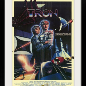 """Tron (1982)"" Black Framed Art Print, 28""x38""x1"""
