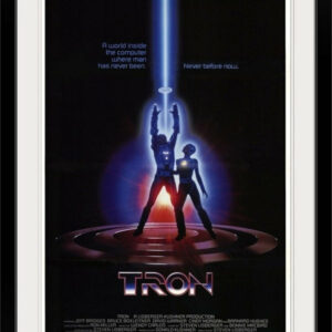 """Tron (1982)"" Black Framed Art Print, 32""x44""x1"""