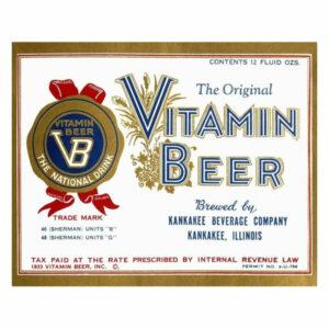 """""""Vitamin Beer"""" Digital Paper Print by Vintage Booze Labels, 18""""x15"""""""