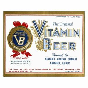 """""""Vitamin Beer"""" Digital Paper Print by Vintage Booze Labels, 24""""x20"""""""