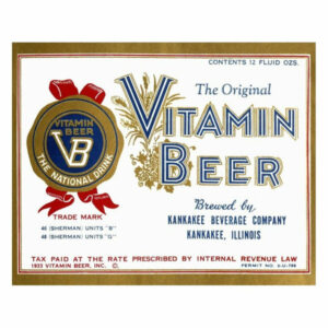 """""""Vitamin Beer"""" Digital Paper Print by Vintage Booze Labels, 32""""x26"""""""