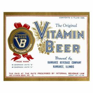 """""""Vitamin Beer"""" Digital Paper Print by Vintage Booze Labels, 38""""x31"""""""