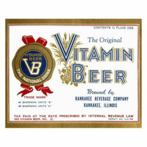 """""""Vitamin Beer"""" Digital Paper Print by Vintage Booze Labels, 42""""x34"""""""