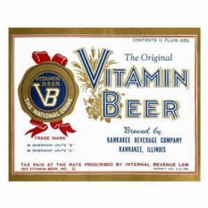 """""""Vitamin Beer"""" Digital Paper Print by Vintage Booze Labels, 46""""x37"""""""