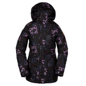 Volcom Shelter 3D Stretch Jacket - Women's Black Floral Print Xs