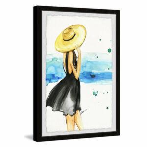 """We Need Vitamin Sea"" Framed Painting Print, 8""x12"""