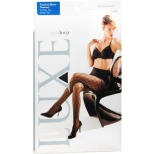 West Loop Luxe Control Top Sheer Toe Fashion Sheer Pantyhose B - 1.0 ea