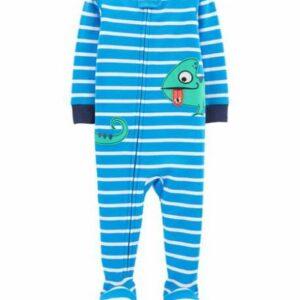 1-Piece Chameleon 100% Snug Fit Cotton Footie PJs