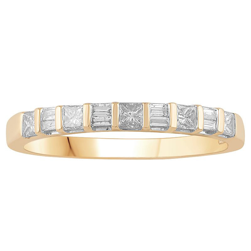 10k Gold 1/3 Carat T.W. Diamond Stackable Band Ring, Women's, Size: 7, White