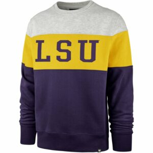 '47 Louisiana State University Co-Ed Interstate Crew Sweatshirt Purple, X-Large - NCAA Men's Fleece/Jackets at Academy Sports