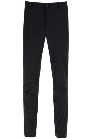 BURBERRY COTTON TROUSERS 46 Black Cotton