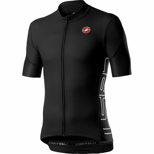 Castelli Entrata V Short Sleeve Jersey - Light Black