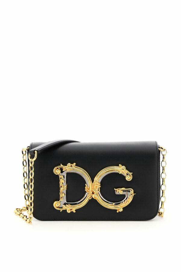 DOLCE & GABBANA DG GIRL MINI BAG BAROCCO OS Black Leather