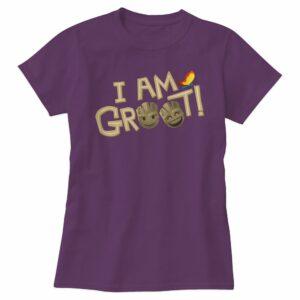 ''I Am Groot'' Text Emoji Tee for Women Customizable Official shopDisney