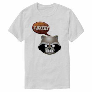 ''I Bite!'' Rocket Text Emoji Tee for Men Customizable Official shopDisney
