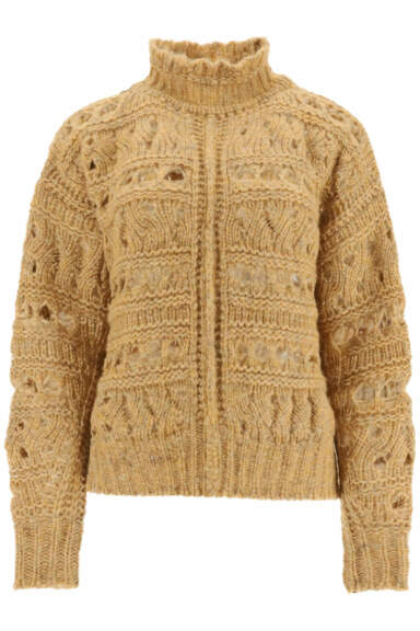 ISABEL MARANT ZOE SWEATER 38 Brown, Yellow, Grey Wool