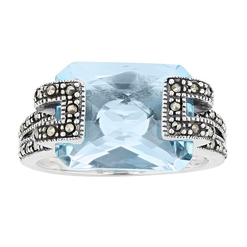 Lavish by TJM Sterling Silver Sky Blue Topaz Ring, Women's, Size: 7