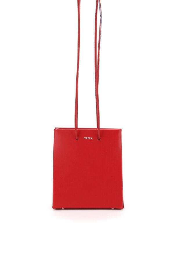 MEDEA LONGSTRAP MEDEA PRIMA BAG LEATHER SHOPPER OS Red Leather