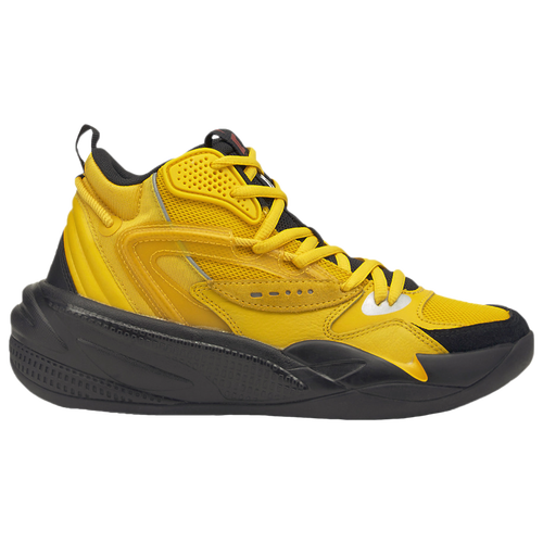 PUMA Boys PUMA RS Dreamer Mid – Boys' Grade School Basketball Shoes Yellow/Black Size 07.0