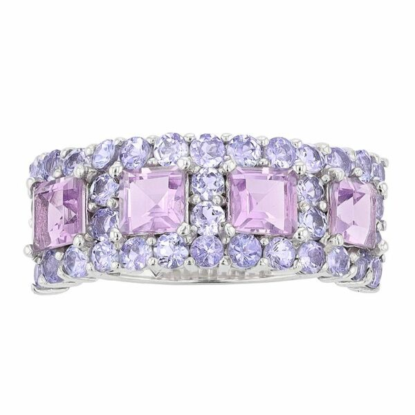 SIRI USA by TJM Sterling Silver Amethyst & Tanzanite Ring, Women's, Size: 7, Purple