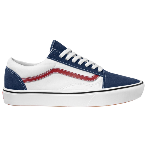 Vans Boys Vans Comfycush Old Skool – Boys' Grade School Shoes White/Dress Blue Size 04.5