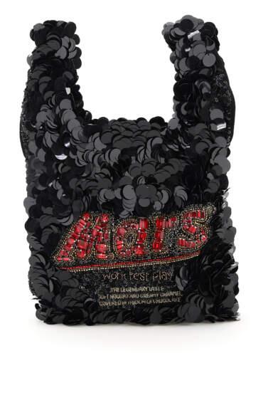 ANYA HINDMARCH ANYA BRANDS MARS BAR SEQUINS MINI TOTE BAG OS Black, Red