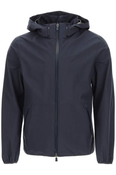 HERNO LAMINAR GORE-TEX HOODED JACKET 46 Blue Technical