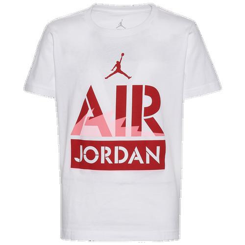 Jordan Boys Jordan AJ5 Edge T-Shirt – Boys' Grade School White/Red Size M