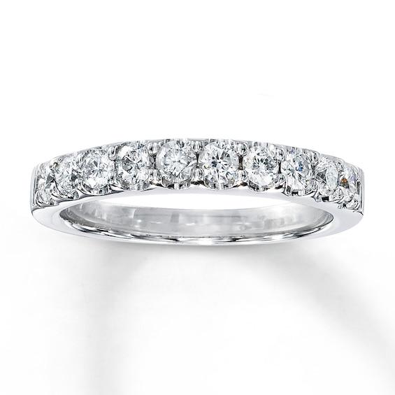 Kay Diamond Wedding Band 1/2 ct tw Round-cut 14K White Gold