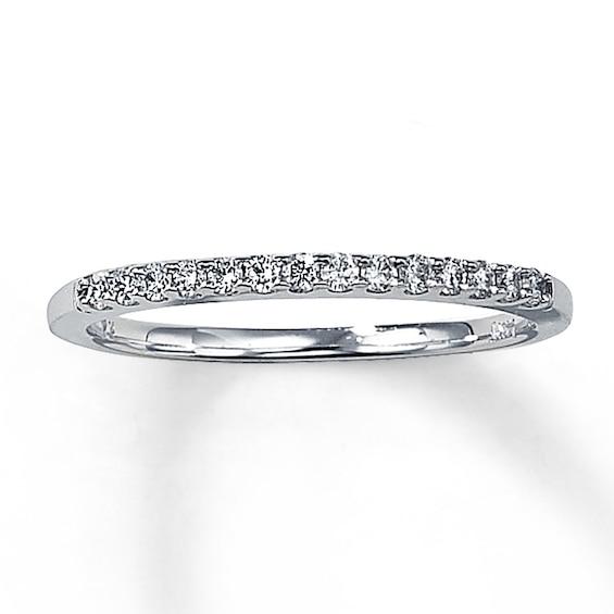 Kay Diamond Wedding Band 1/6 ct tw Round-cut 14K White Gold