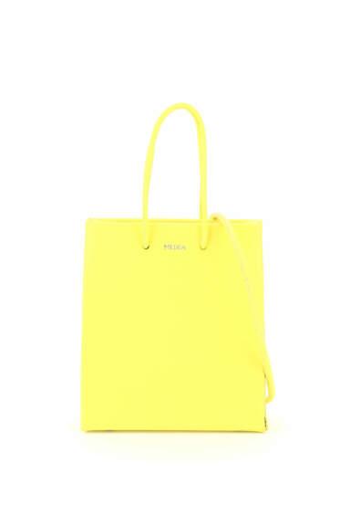 MEDEA PRIMA SHORT CROSSBODY BAG OS Yellow Leather
