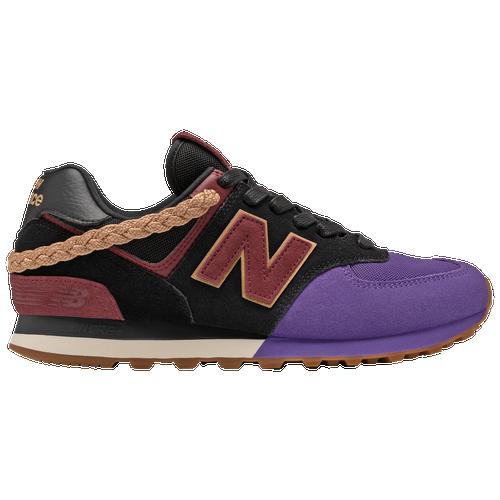 New Balance Mens New Balance 574 Classic – Mens Running Shoes Black/Classic Burgundy Size 09.0