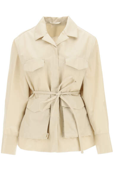 TOTEME BELTED ARMY JACKET 34 Beige Technical